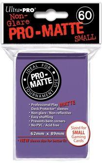 PURPLE SMALL PRO MATTE DECK PROTECTOR 60-CT