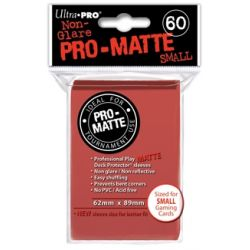 RED SMALL PRO ΜΑΤΤΕ DECK PROTECTOR 60-CT
