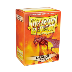 DRAGON SHIELD MATTE ORANGE 100-CT