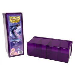 DRAGON SHIELD PURPLE 4-COMPARTMENT BOX