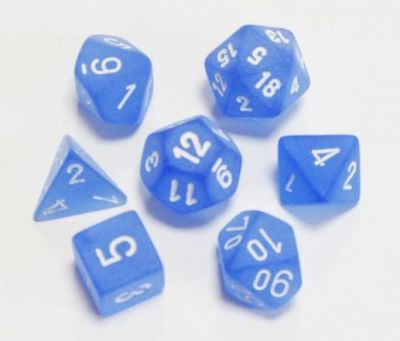 FROSTED BLUE/WHITE 7-DIE SET