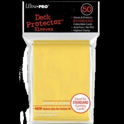 YELLOW DECK PROTECTOR 50-CT