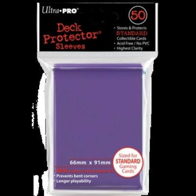PURPLE DECK PROTECTOR 50-CT