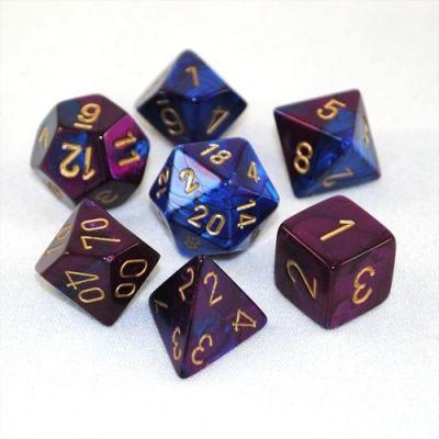 GEMINI BLUE-PURPLE W/GOLD 7-DIE SET