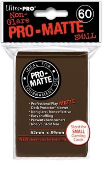 BROWN SMALL PRO MATTE DECK PROTECTOR 60-CT